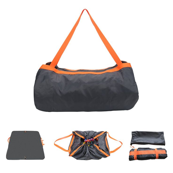 CARESUS Travel Bag & Beach Blanket Shoulder Luggage Lightweight Waterproof for Outdoor Beach Camping Picnic Blanket Storage Bag (Orange). SAVE TIME: This 2/1 blanket and bag is a perfect combination of a bag and a blanket ,can be used indoors and outdoors ,Large room to carry necessary thing, also a blanket to sit or place snacks or toys. Quick pack on the go, Perfect for family outing, use as outdoor blanket,camping mat, play mat, picnic blanket, picnic tablecloth, beach blanket, beach…
