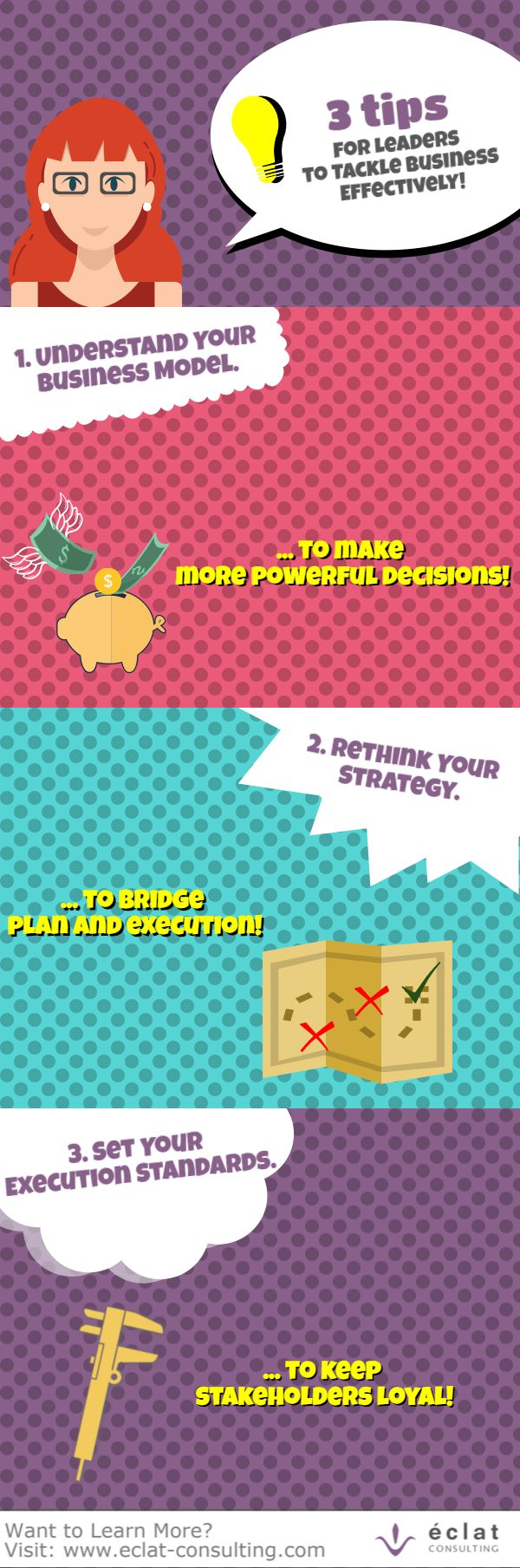 These 3 tips will help you to tackle your business effectively!