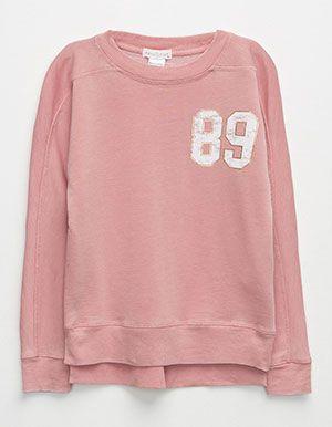 FULL TILT 89 Girls Sweatshirt     Pink                                                                                                                                                                                 More