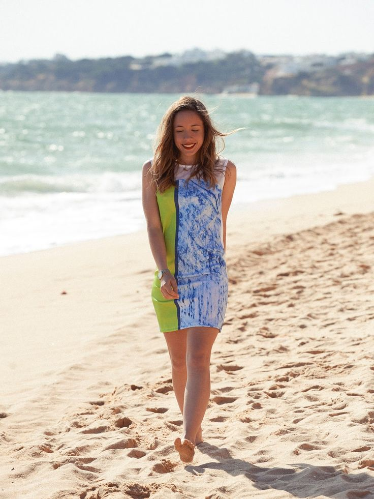 Chloé, author of La penderie de Chloé, has chosen a denim Salsa outfit for Algarve photoshooting <3
