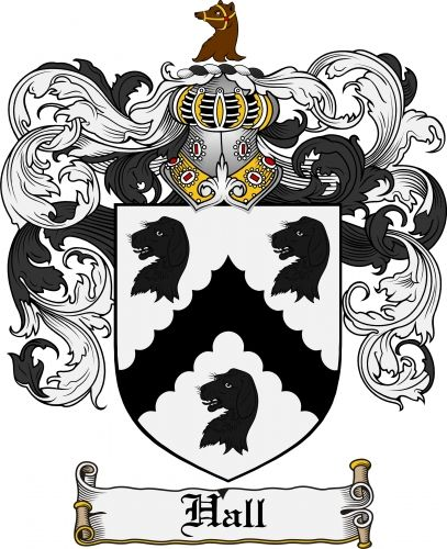 hall family crest google search genealogy pinterest