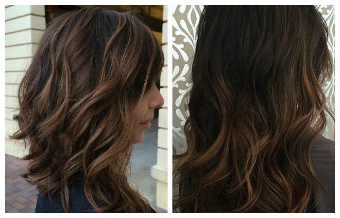 Окрашивание волос балаяж на темные волосы, фото