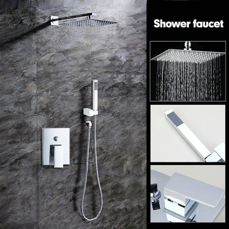 Cheap Faucet Set, Buy Quality Taps Shower Directly From China Shower Faucets  Suppliers: KEMAIDI Bathtub Rainfall Shower Head Polished Wall Mounted 360  ...