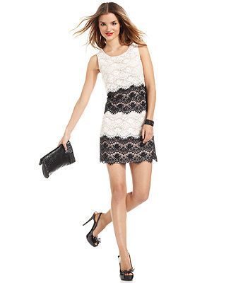 Jessica Simpson Dress, Sleeveless Tiered Lace Cocktail Dress - Dresses - Women - Macy's
