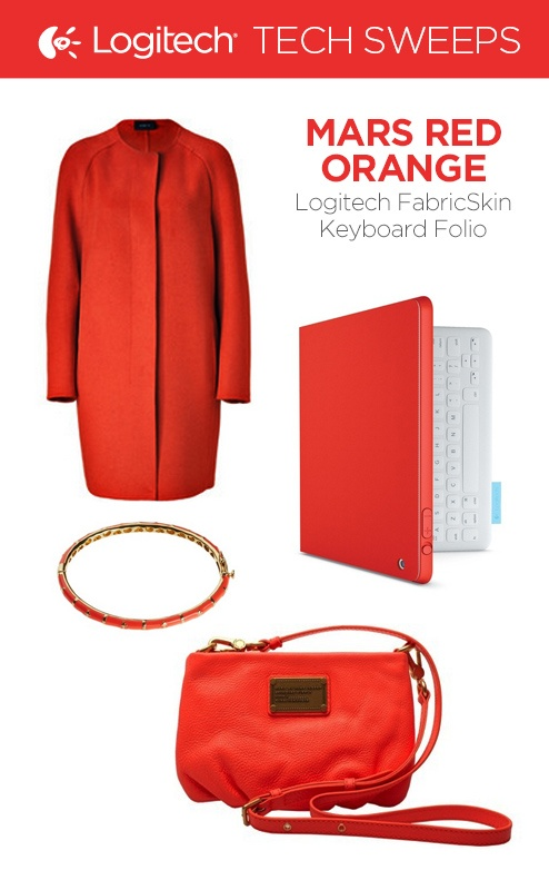Repin and then click on the image to enter for a chance to win the Logitech FabricSkin Keyboard Folio in Mars Red Orange.