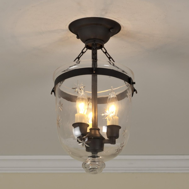Foyer Lighting Nz : Mini smokebell semi flush ceiling lantern home general