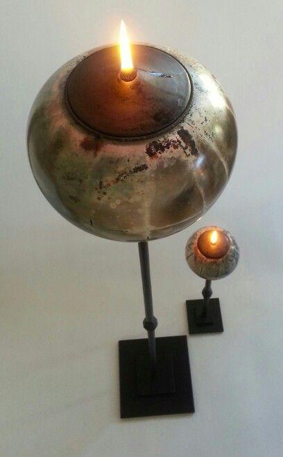 Candelholders/Oillamps Sawdust/Iron