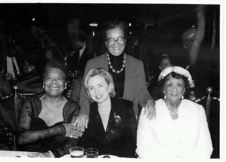 Maya, Marian Wright Edelman (another childhood idol of mine), Hillary Clinton and Dorothy Height. Fabulous!