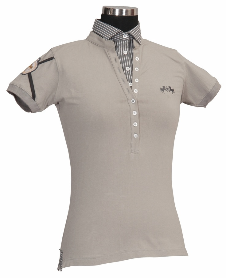 Equine Couture Ladies Chloe Layered Short Sleeve Polo Shirt
