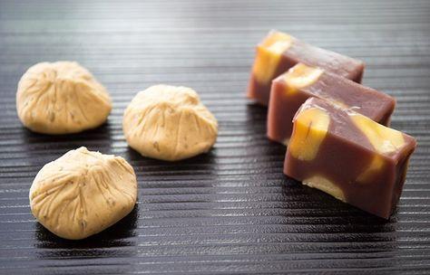 栗きんとん と 栗蒸し羊羹 岐阜県中津川市 栗きんとん本家 すや #chestnut #wagashi #nakatsugawa #gifu