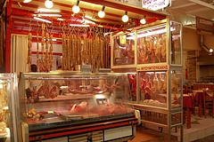 Butcher's shop, Hania Market