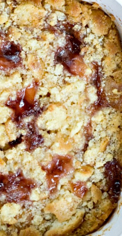 Jelly Donut Bread Pudding - Never throw away day-old donuts again!.