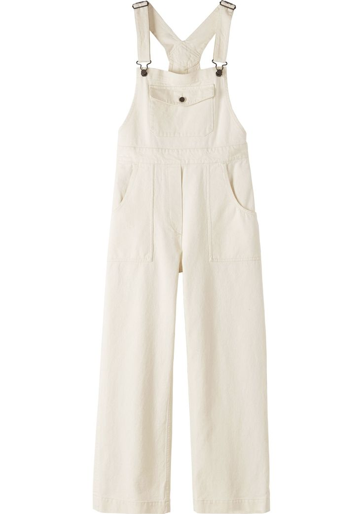 Women's Ecru Cotton Odille Dungaree | Toast