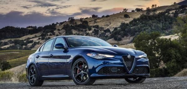 """Motor Trend magazine named the Alfa Romeo Giulia its 2018 Car of the Year and said the Italian car """"reminds us that driving can indeed be…"""