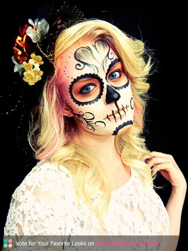 89 Best Images About Day Of The Dead Makeup On Pinterest | Halloween Ideas Sugar Skull Nails ...