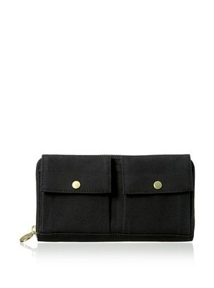 36% OFF Kate Spade Saturday Women's Canvas Two Pocket Wallet, Black