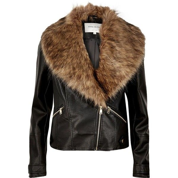 Best 25  Fur collar jacket ideas on Pinterest | Leather fur jacket ...