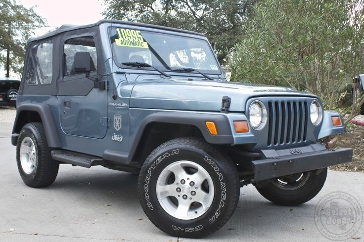 "1997 ""Gun Metal Blue"" Jeep Wrangler SE - $10,995 - Only 95k Miles, Automatic, Soft Top with Half Doors, Super Clean!! See More.... http://www.selectjeeps.com/inventory/view/8079459/1997-Jeep-Wrangler-2dr-SE-League-City-TX"