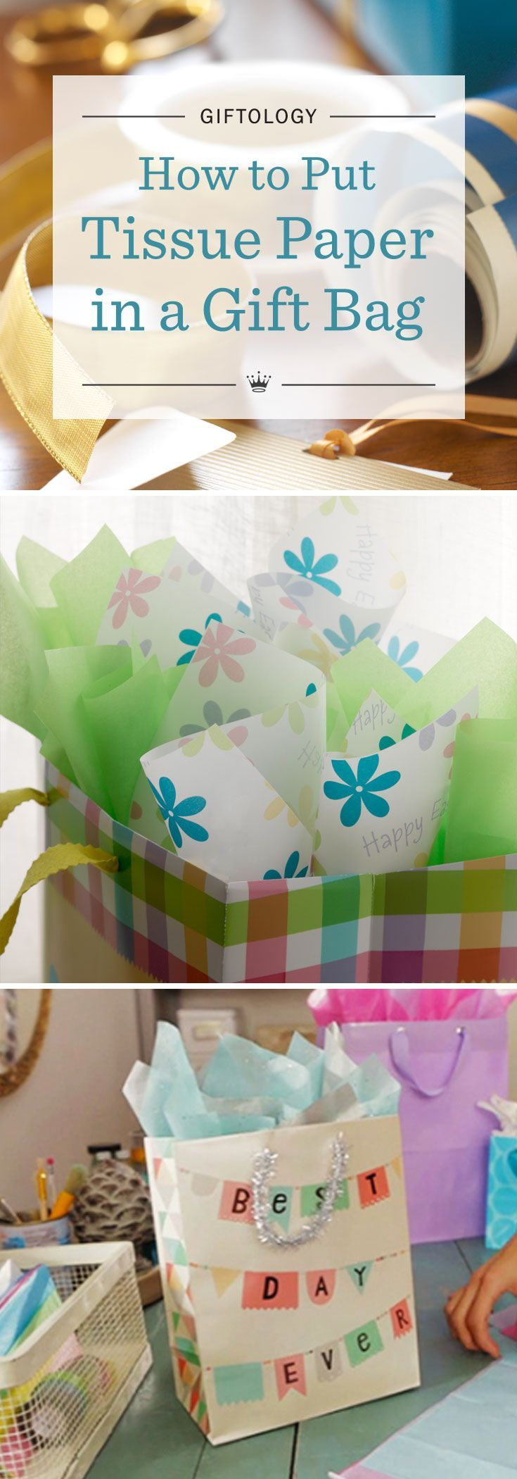 Giftology: How to Put Tissue Paper in a Gift Bag | Learn the art of gift wrapping from the experts at Hallmark. Watch our fun video tutorial to learn how to put tissue paper in a gift bag and make it look great (the trick is in the twist!).