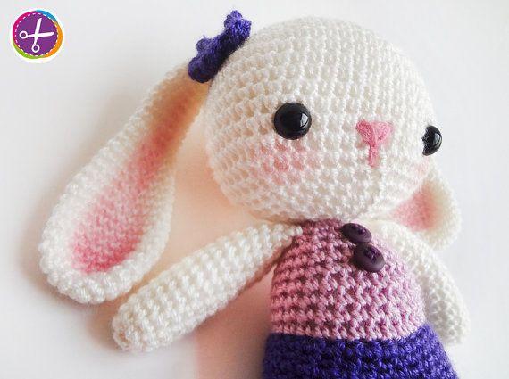 Purple Miss Bunny Amigurumi