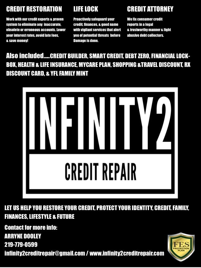 www.infinity2creditrepair.com Credit Restoration Services Start 2018 off right! You won't be disappointed!!!