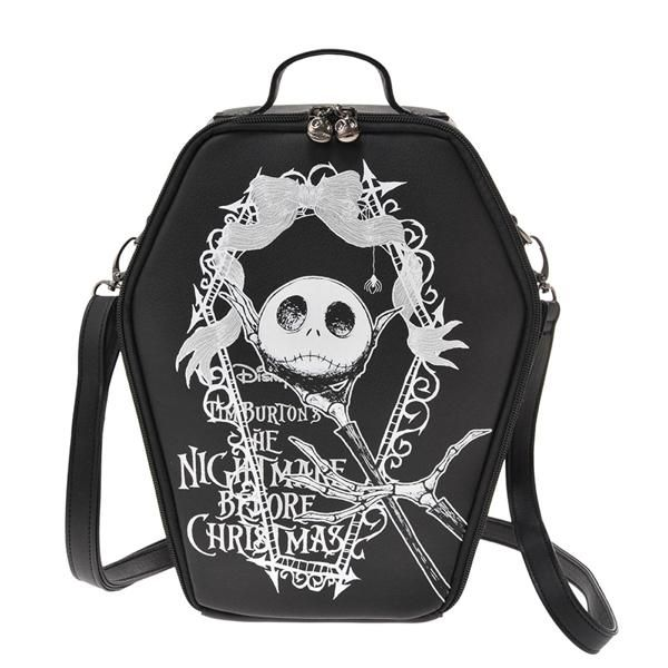 9125a3d59a4f Nightmare Before Christmas Jack Skellington 3 way Casket Coffin Bag Disney  Store JAPAN