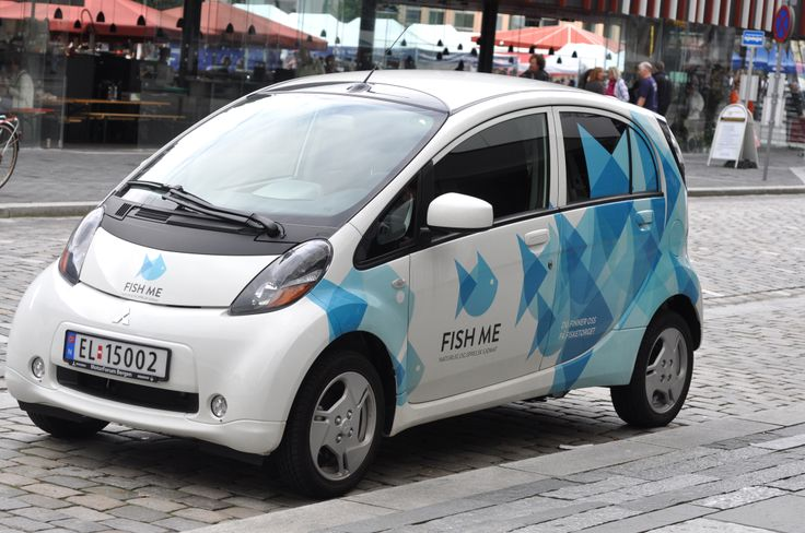 The little Fish Me car, in Bergen, Norway. Design: Hege Jørgensen.