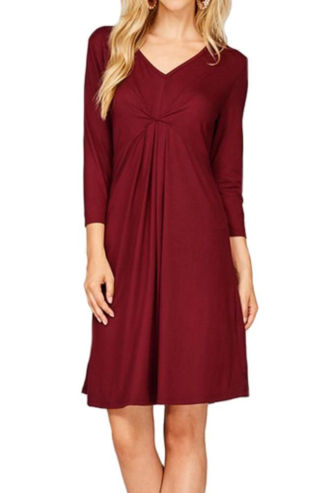 Empire Line Dress with Pin Tuck