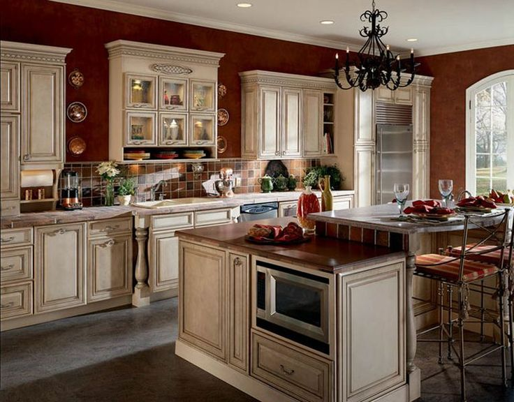 incredible brown color kitchen cabinets | Popular Kitchen Paint Colors | Ideas for Kitchens in ...