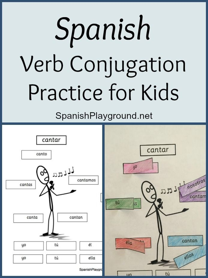 Spanish verb conjugation practice is fun for kids with this cut-and-paste activity. Kids create -ar verb pages with lift-up tabs for interactive practice.