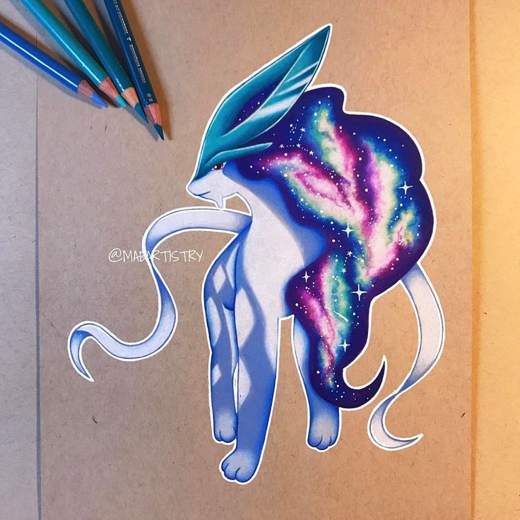 "2,304 Likes, 79 Comments - MARILYN MAE (@maeartistry) on Instagram: ""✩ Hey friends! Here's the finish drawing of Suicune I hope you guys like it!! I'll be working…"""