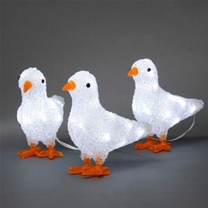 Konstsmide 6177-203 LED Acrylic Christmas Birds