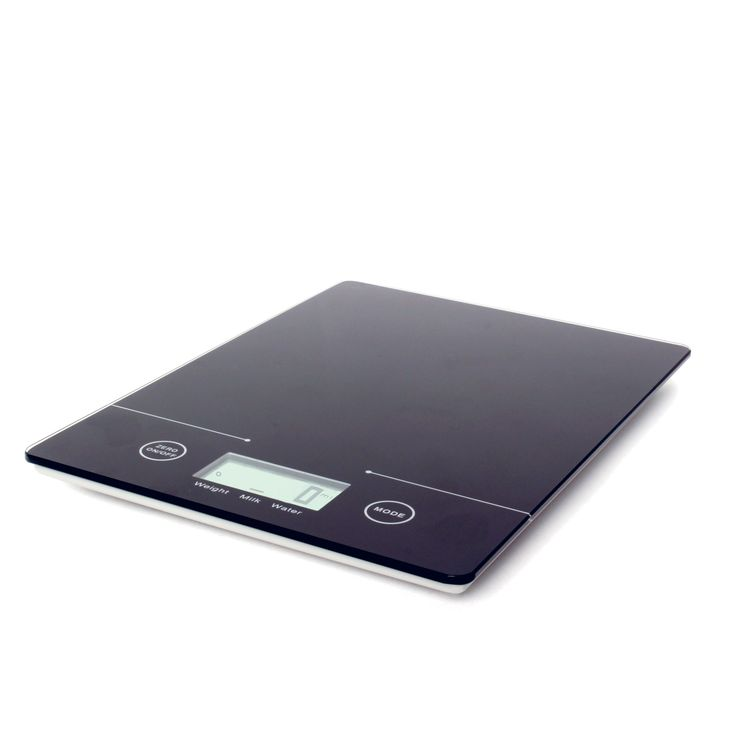 Black Digital Kitchen Scales  Slimline & sleek, get precise measurements with our black digital kitchen scales. Made from tempered glass these scales feature a slimline design, touch button operation and they indicate the volume of water & milk.  Whether you prefer metric or imperial measurements we've got you covered as these scales can be changed between the two at the simple touch of a button.  Perfect for all who love to cook & bake!