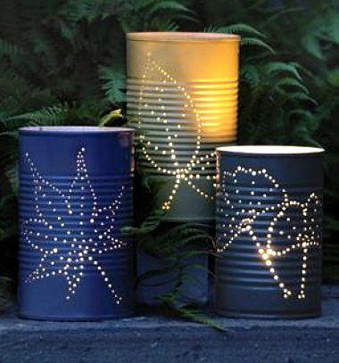 DIY Tin can lanterns // Áttört hatású mécsestartók konzervdobozokból // Mindy - craft & DIY tutorial collection