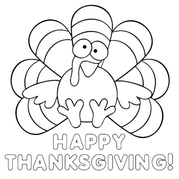 Happy Thanksgiving Pictures To Color Turkey Coloring Pages