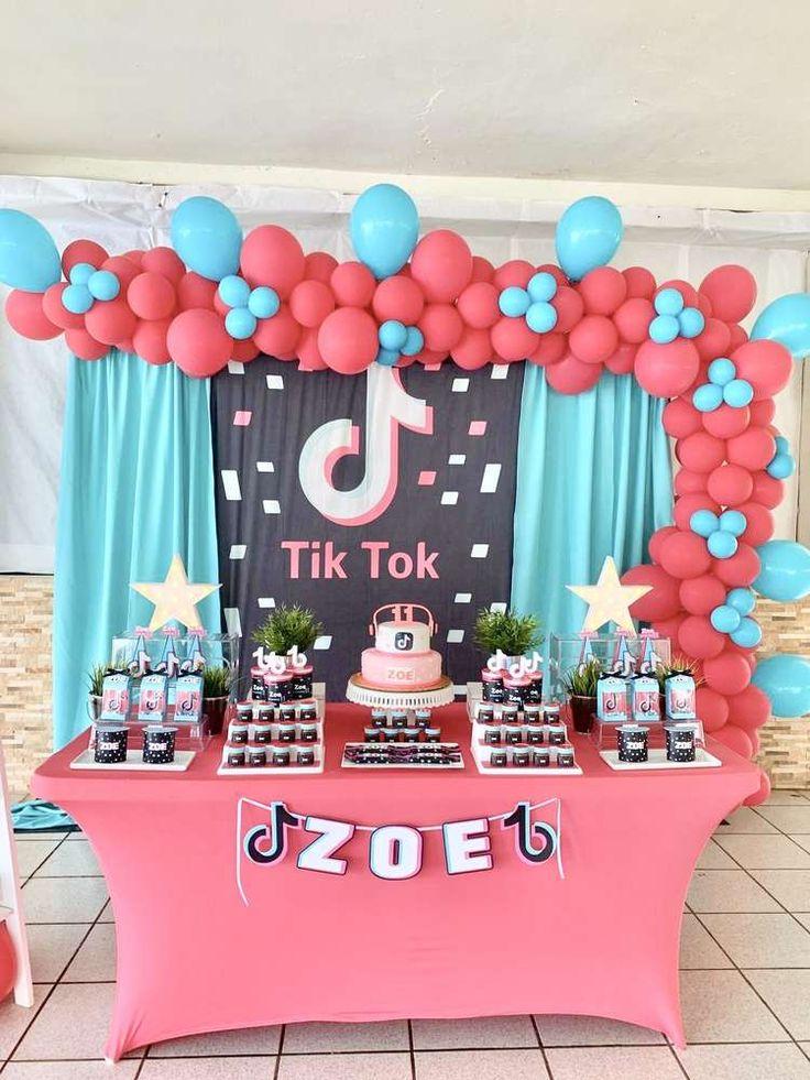 "Faye Cahill Cake Design on Instagram: ""Had fun with this ...   Tiktok 10th Birthday Cake"