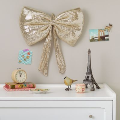 When I have a little girl this Giant Sequin Bow (Gold) will be in her room!