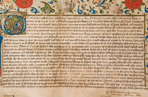 400th Anniversary of the Charter  The Royal Charter In 2007 The Salters' Company celebrated the 400th anniversary of the Royal Charter grant...