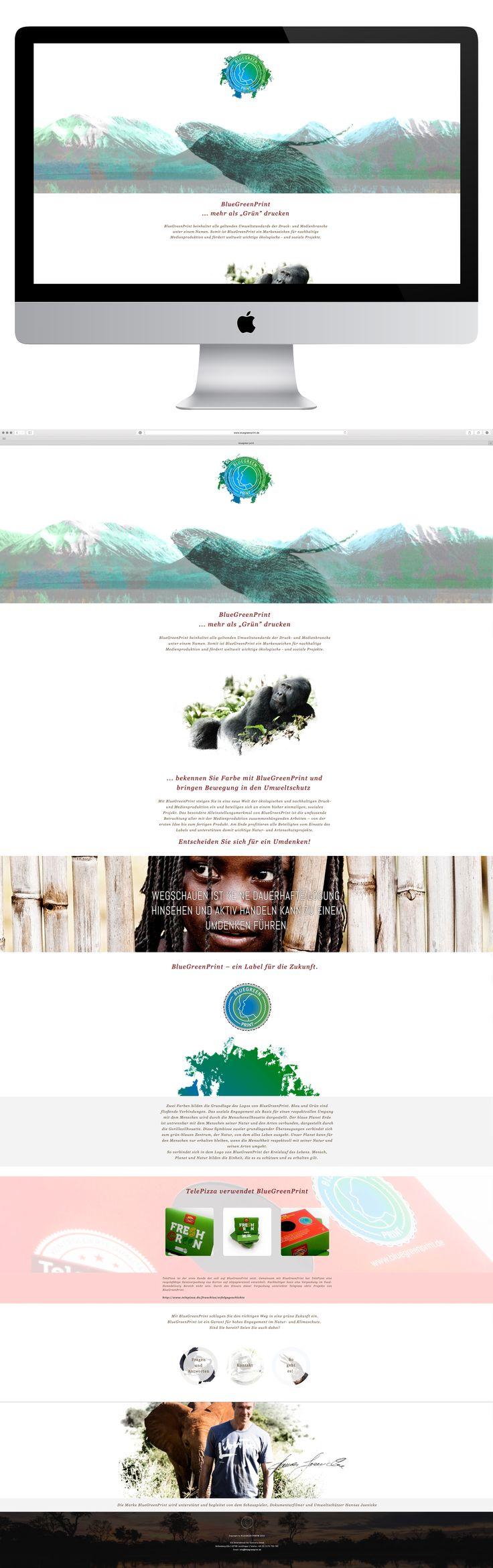 """http://www.bluegreenprint.de BlueGreenPrint ... mehr als """"Grün"""" drucken  BlueGreenPrint beinhaltet alle geltenden Umweltstandards der Druck- und Medienbranche unter einem Namen. Somit ist BlueGreenPrint ein Markenzeichen für nachhaltige Medienproduktion und fördert weltweit wichtige ökologische - und soziale Projekte."""