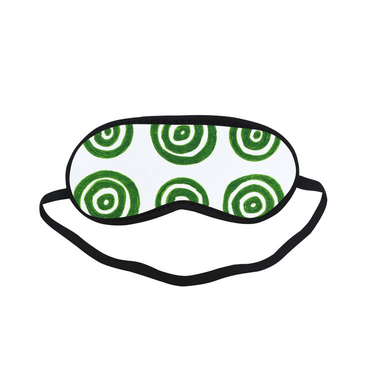 Ladies fashion relaxing eyemask. Bedroom accessory / Vintage green white Gift edition Sleeping Mask.