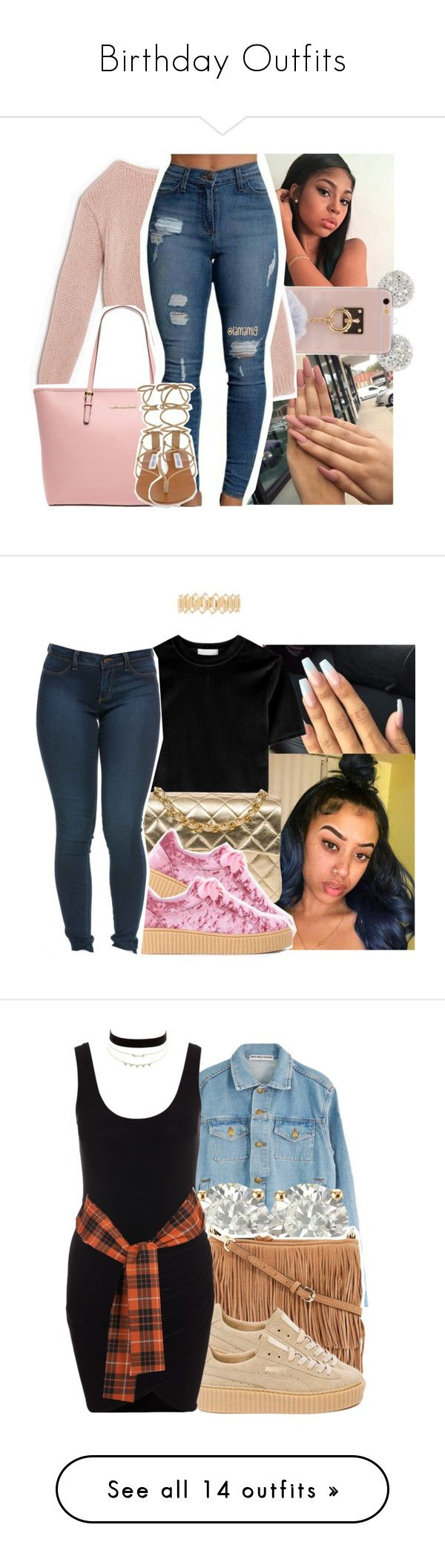 """Birthday Outfits"" by yahcyriatinnon ❤ liked on Polyvore featuring Max&Co., MICHAEL Michael Kors, Steve Madden, Chanel, Haati Chai, Trendy, 2016, Auriya, Rebecca Minkoff and Puma"