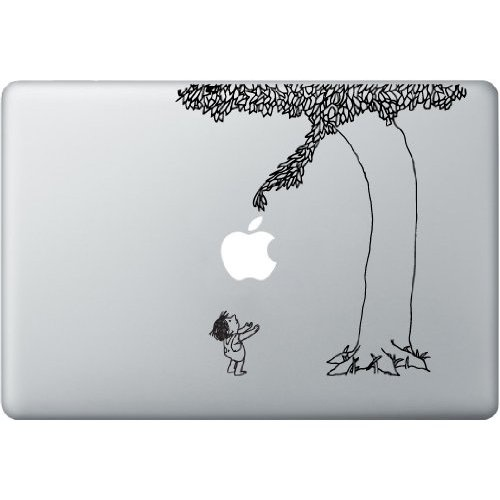 Gah. I want to find this! The Giving Tree Macbook Pro decal