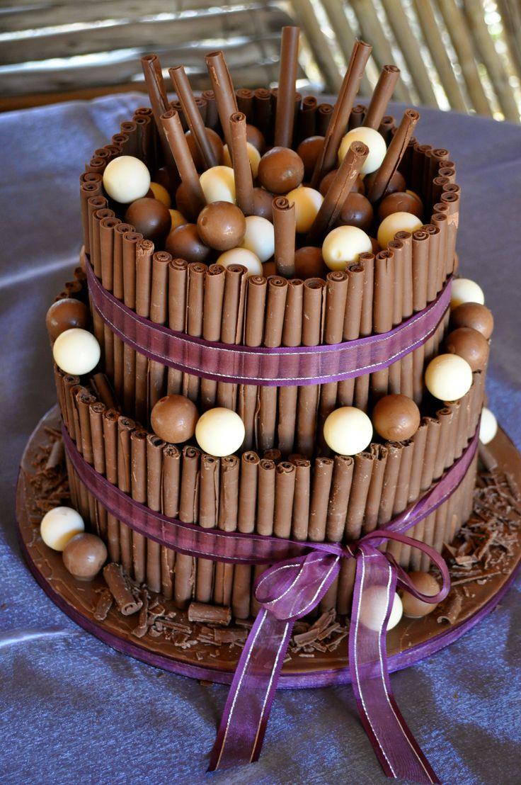 Tier Chocolate Cigarillos Lindt Lindor Wedding Cake