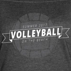 Summer 2017 Volleyball on the Beach - Women's Vintage Sport T-Shirt Volley, Volleyball team shirts, volleyball graphic tees, womens volleyball team shirt, volleyball uniform, team shirts, beach volleyball, indoor volleyball, men & aposs volleyball, sand volleyball, club volleyball shirts, adult volleyball leagues, womens volley, ace volleyball, volleyball team, volli ball, university of texas volleyball, olympic girls volleyball made by CW Design, Crystal Whitlow