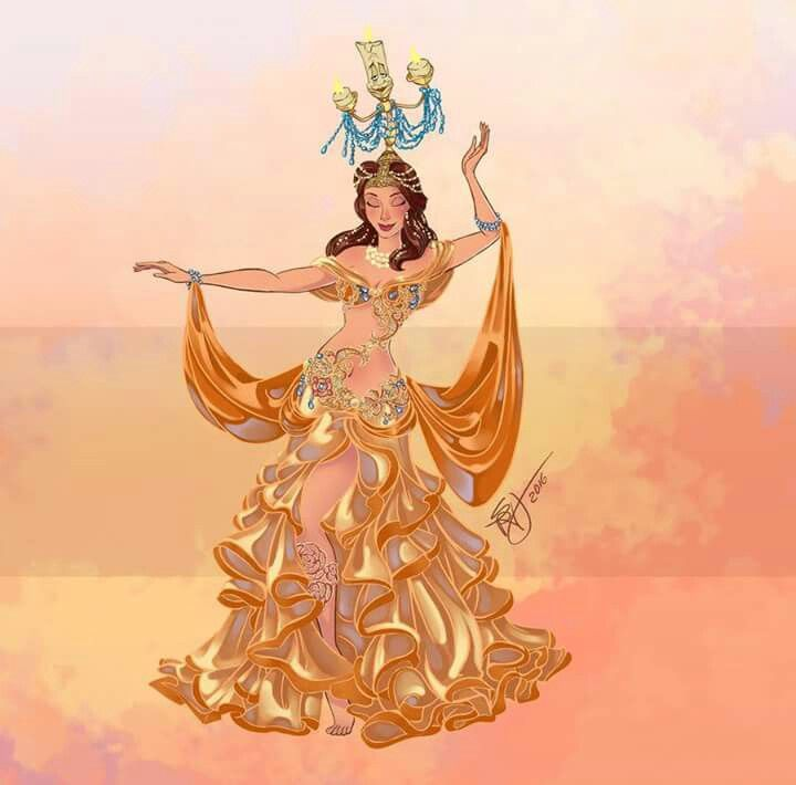 Belle Belly Dancers Art by Sara Manca