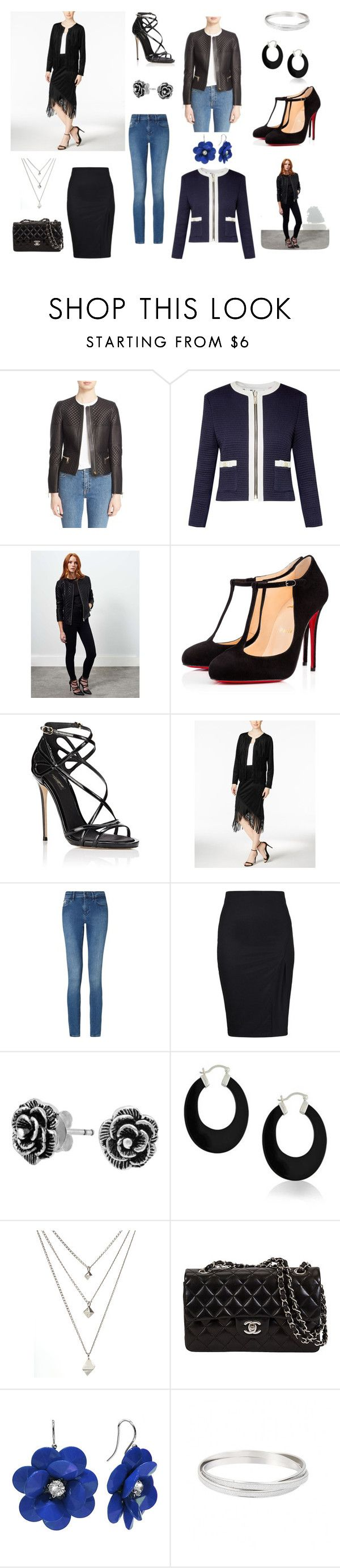 """Tablero chaqueta channel"" by giselle-suarez on Polyvore featuring Burberry, Ted Baker, Miss Selfridge, Christian Louboutin, Dolce&Gabbana, Kensie, Calvin Klein and Bling Jewelry"