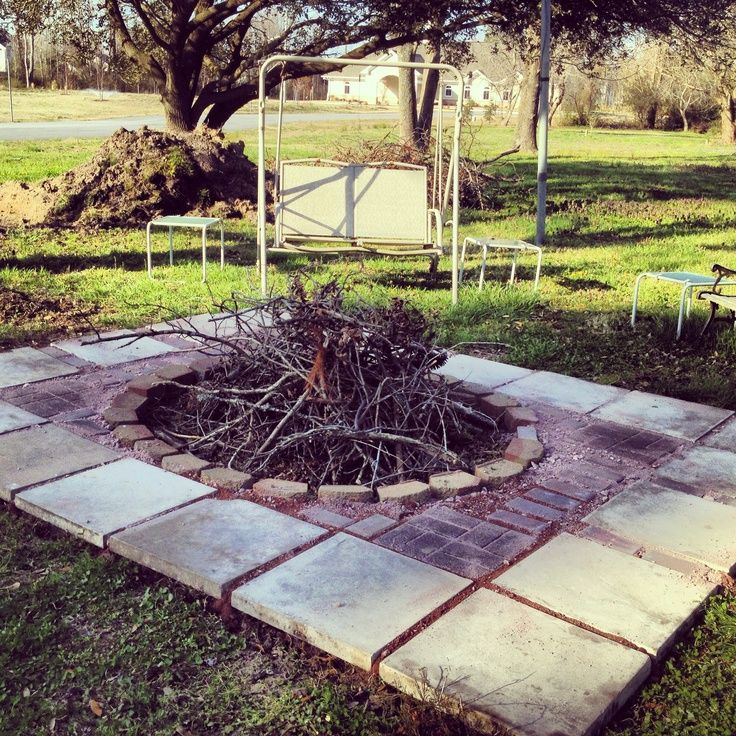 Diy fire pit ideas my diy fire pit turned out great a for Fire pit project