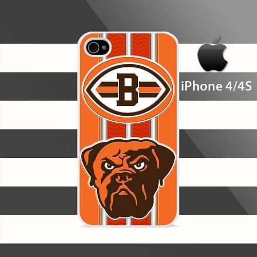 Cleveland Browns texture Stripes iphone 4 4s Rubber Case Cover