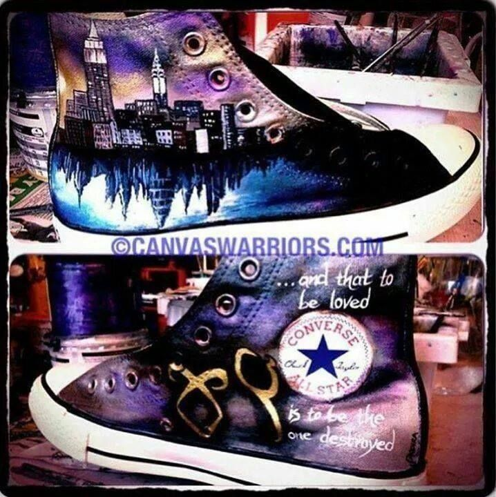 The Mortal Instruments shoes!!! I want them. Scratch that , I need them