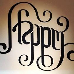 Stephan Sagmeister Happy Show Ambigram - www.friedensohn.tumblr.com